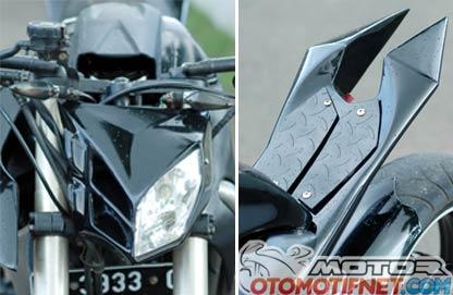 Dari sisi headlamp, modifikator menerapkan singgle headlamp disatu