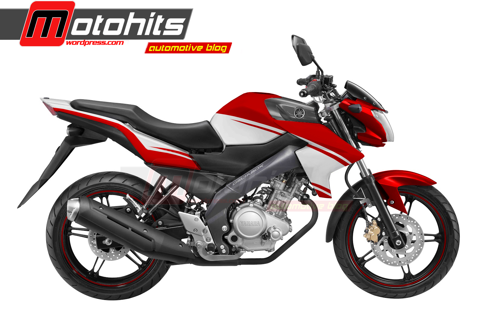 90 Modifikasi Motor Vixion Warna Merah Putih Terbaik Spions Motor