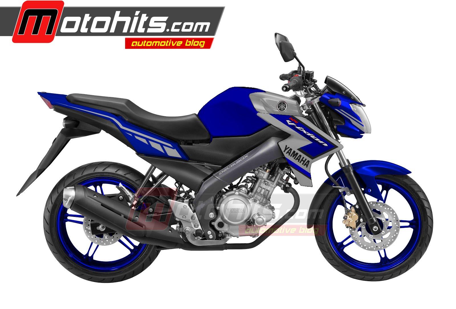 Modifikasi Motor Vixion Biru Putih Pecinta Modifikasi