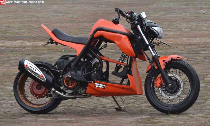 Modifikasi Honda Beat Jadi Street Fighter Kreatif Tenan Ki