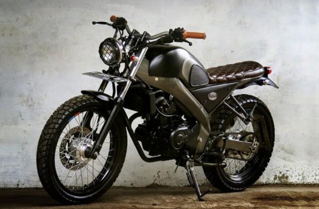 Modifikasi Yamaha Vixion Ala Tracker Oldschool, Ciamik