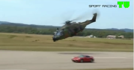 Helicopter vs supercar