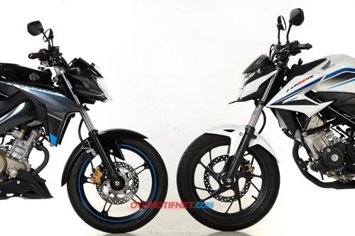 Komparasi Fisik All New CB150R dan Yamaha New Vixion Advance