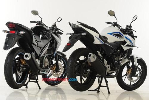 Komparasi Fisik All New CB150R dan Yamaha New Vixion