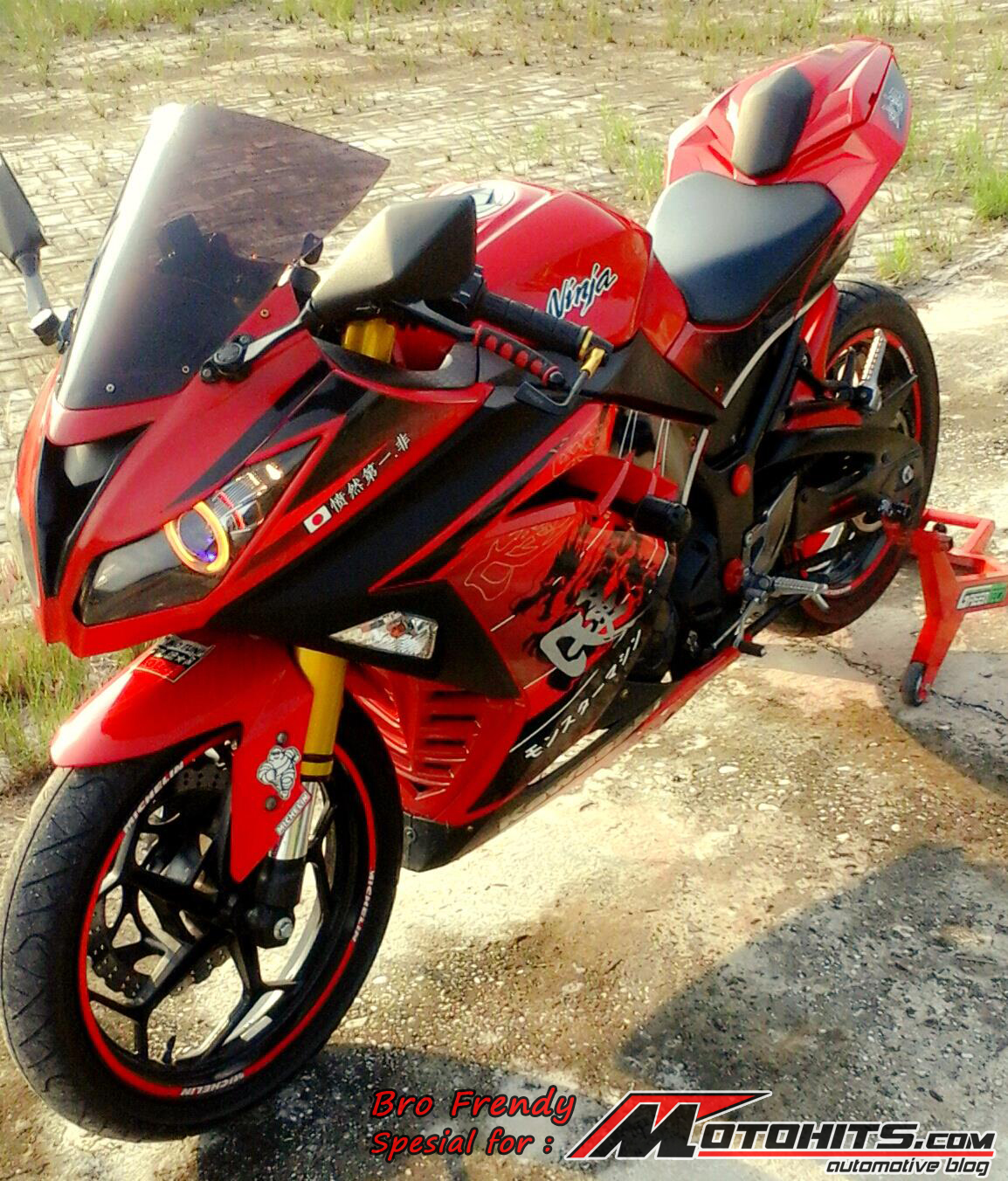 modifikasi ninja 250 fi merah terbaru terpopuler