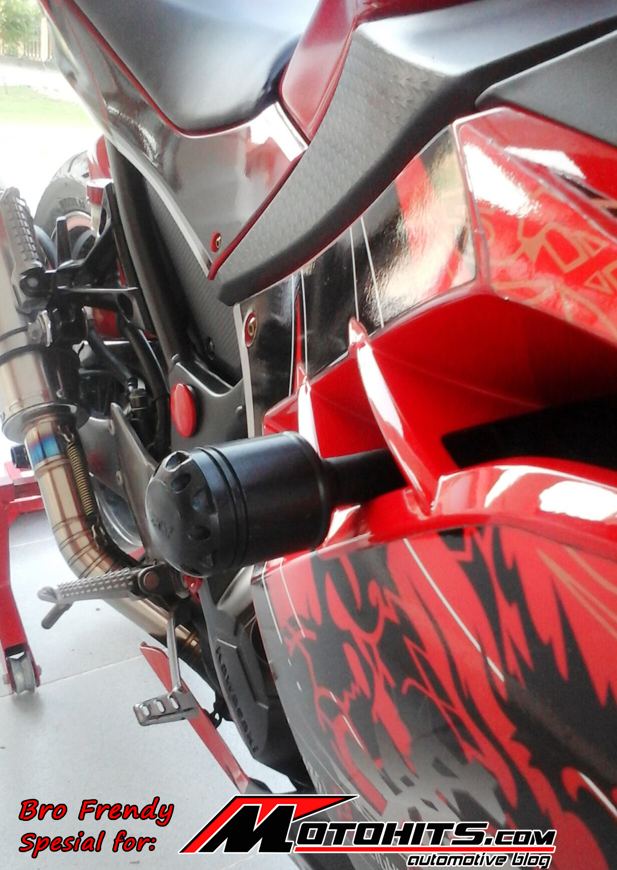 Modifikasi Kawasaki Ninja 250 Fi Milik Bro Frendy Lubis Mantap