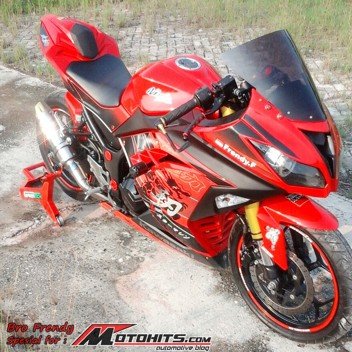 referensi modifikasi ninja 250 fi warna merah