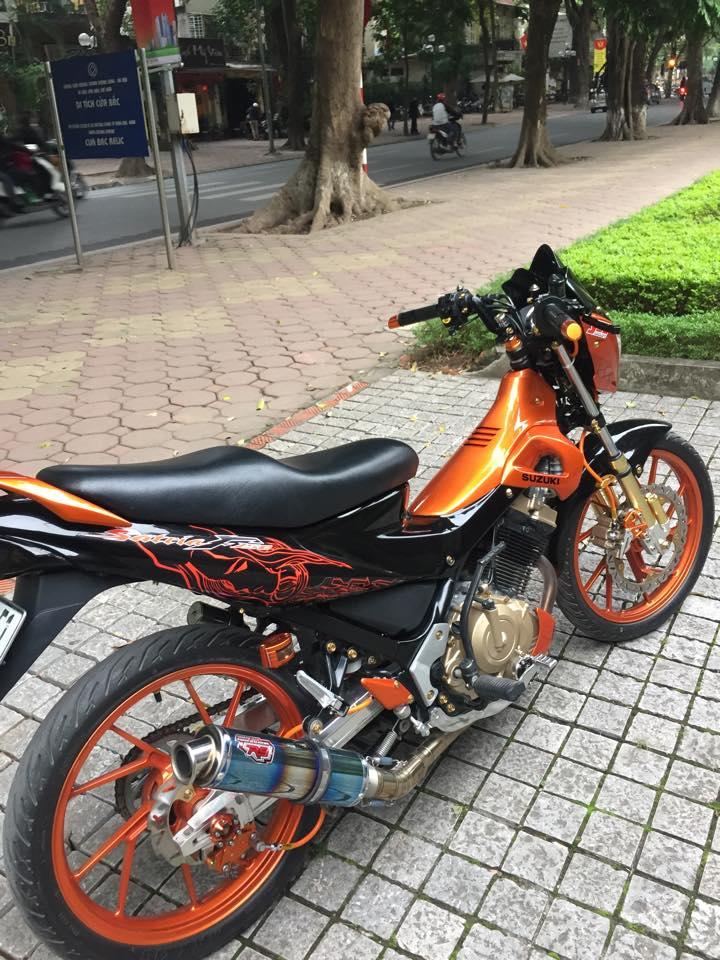 Modifikasi Suzuki Satria Fu Black Orange Eye Catching Euy