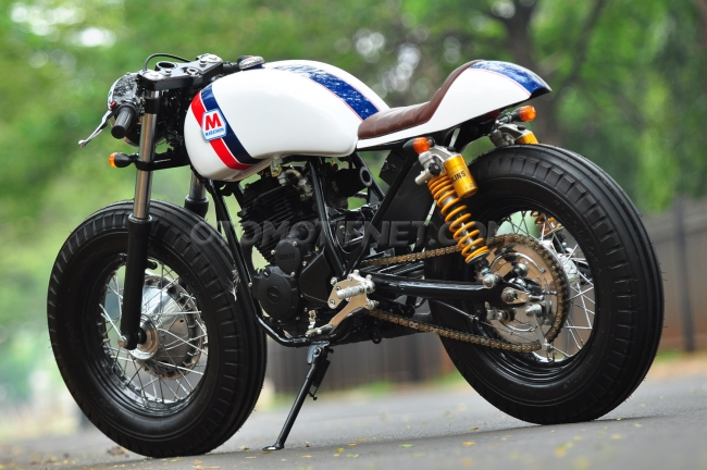 modifikasi yamaha scorpio cafe racer motohits