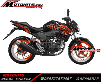 all new CB150R black orange
