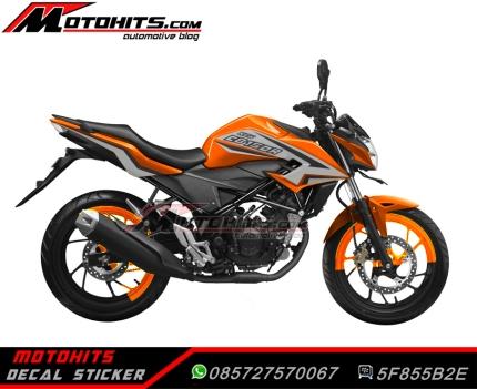 all new cb150r orange