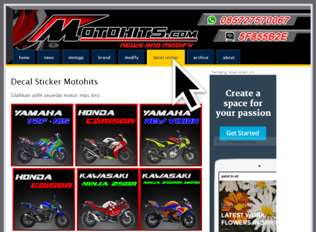 sticker decal motohits