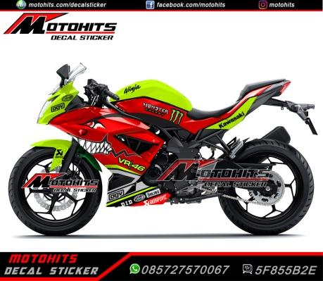 decal sticker Ninja 250rr mono