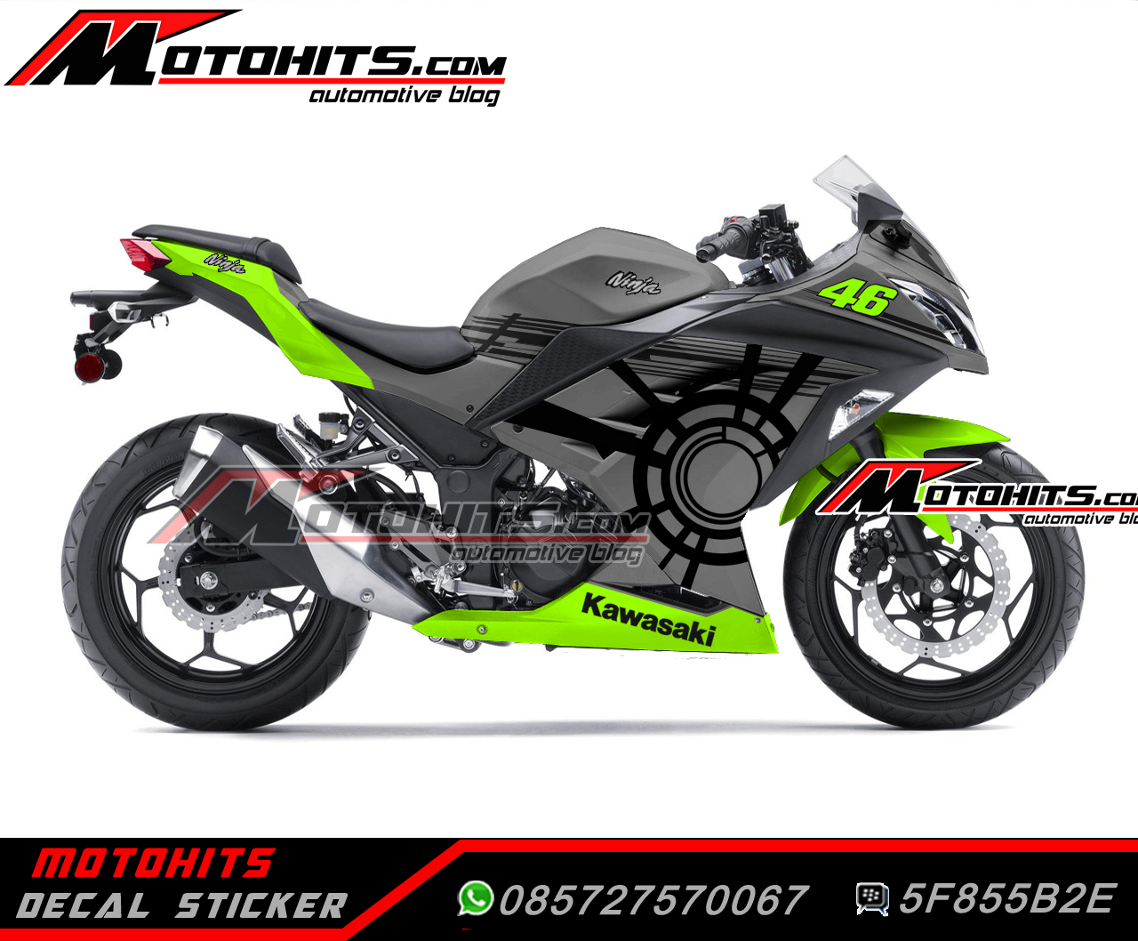 Decal Sticker Kawasaki Ninja 250 Motohitscom