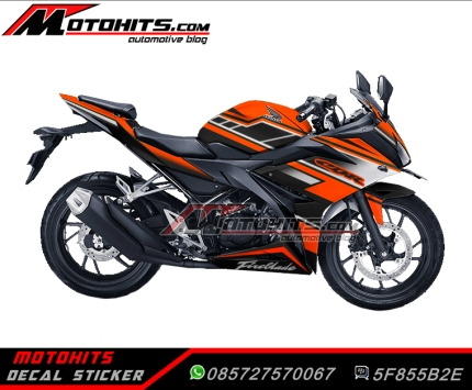 Decal Sticker All New Honda CBR150R (Black-Orange)