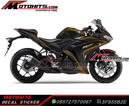 yamaha R25 black gold