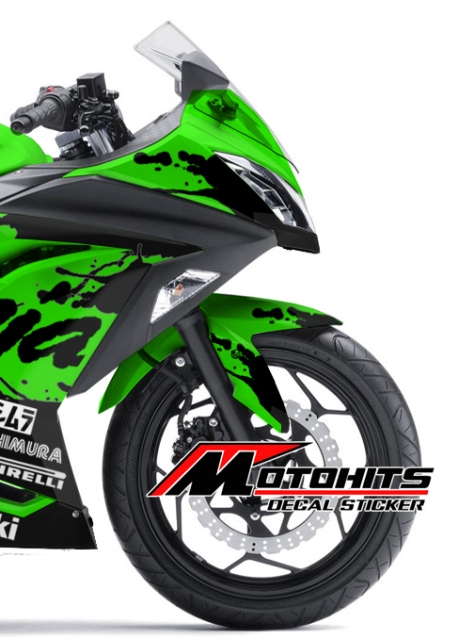 Decal sticker Kawasaki Ninja 250Fi hijau