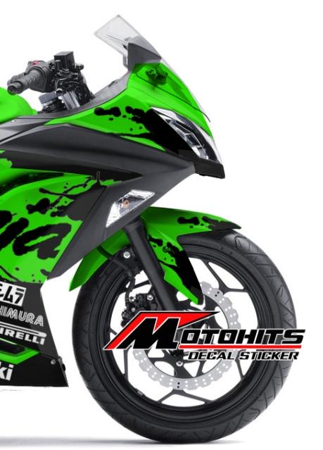 Decal sticker Kawasaki Ninja 250Fi hijau