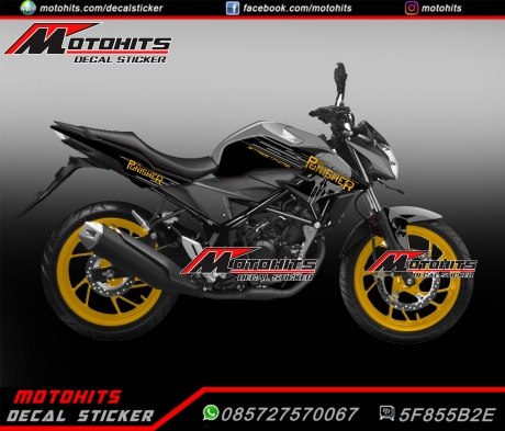 decal cb150r stallion black