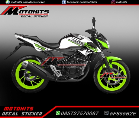 decal cb150r putih