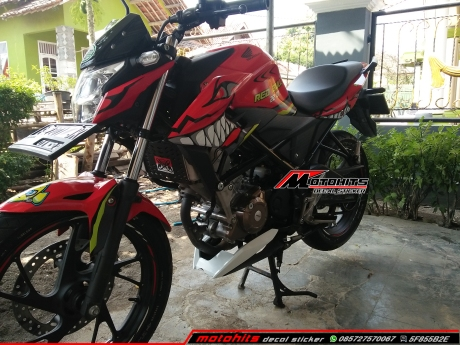 decal stciker cb150r shark
