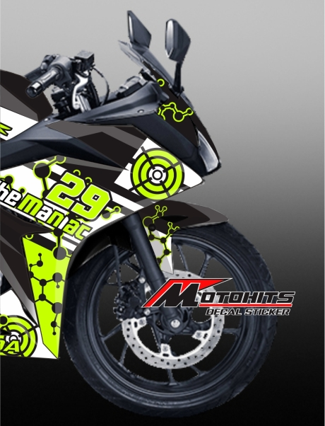 decal sticker CBR150R Black
