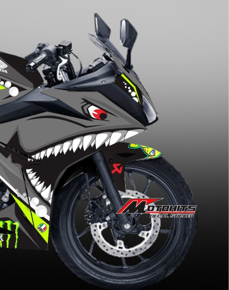 decal sticker shark Honda CBR150R