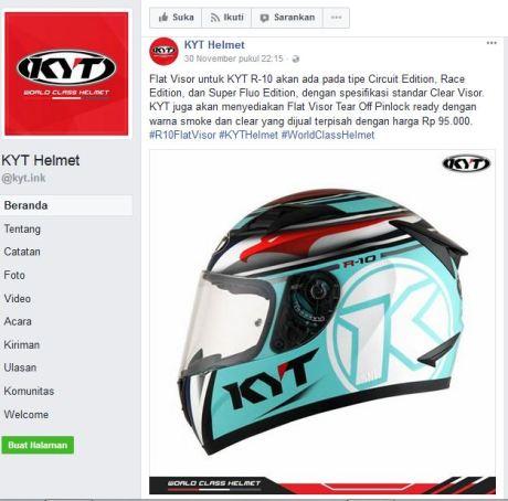 KYT R-10 Flat visor