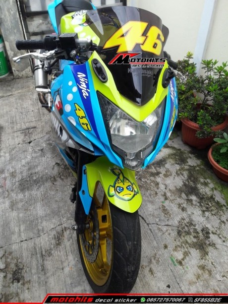 modifikasi Ninja 250 RR mono