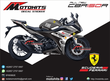 Decal sticker all new honda cbr150r Ferrari